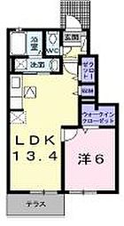 香川県高松市小村町の賃貸アパートの間取り