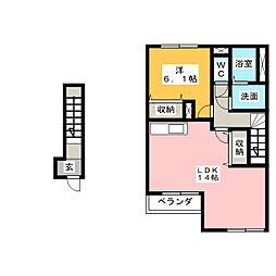 シャルマンハイツ B[2階]の間取り
