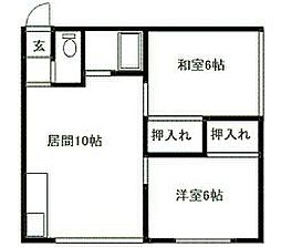 北海道札幌市南区石山東3丁目の賃貸アパートの間取り