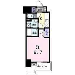 JR鹿児島本線 箱崎駅 バス12分 オロシアム下車 徒歩4分の賃貸マンション 11階1Kの間取り