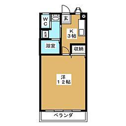 コーポ南木7[1階]の間取り