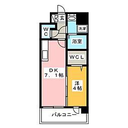 ラファセ美野島[1階]の間取り