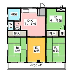 メゾン松風 A棟[2階]の間取り