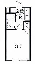 栄谷ベリエール白邸[2階]の間取り