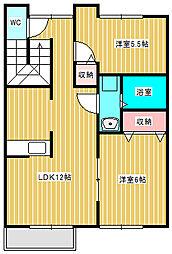 カッツェンアパートメント[2階]の間取り