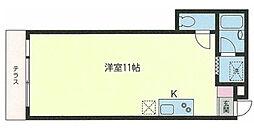 コーポ花園[1階]の間取り