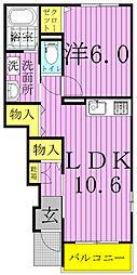 えんじゅ清水公園[1階]の間取り