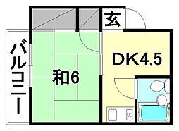三番町村松ビル[402 号室号室]の間取り