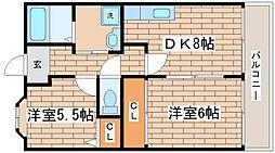 兵庫県神戸市須磨区千歳町4丁目の賃貸マンションの間取り