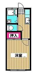 富士見荘 bt[210号室]の間取り