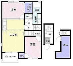 WILL LAND[2階]の間取り
