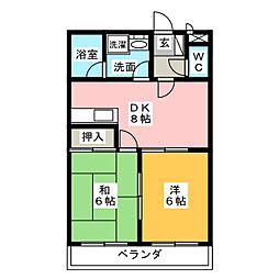 桜花林[3階]の間取り