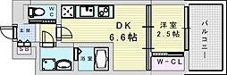 セレニテ三国プリエ 4階1DKの間取り