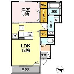 新築D-roomセジュール湘南[1階]の間取り
