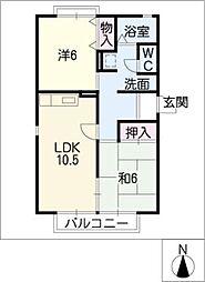 トゥインクル KATO[2階]の間取り
