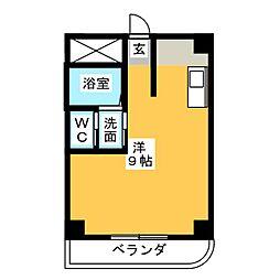 ブルーワンマンション[3階]の間取り
