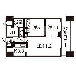 パークアクシス札幌植物園前[2階]の間取り