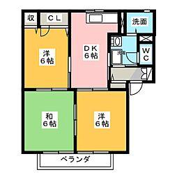 グランドウールII[2階]の間取り