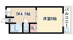 愛知県日進市赤池4丁目の賃貸アパートの間取り