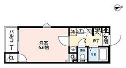 西武池袋線 椎名町駅 徒歩9分の賃貸アパート 1階1Kの間取り