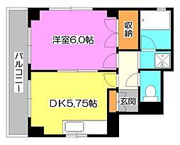 東京都東久留米市本町2丁目の賃貸マンションの間取り