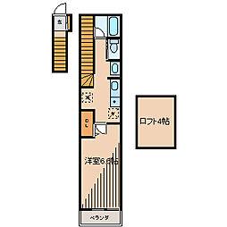 ロレーヌ[2階]の間取り