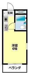 ソレイユ豊田[404号室]の間取り