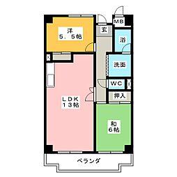 ハイネス相川[3階]の間取り