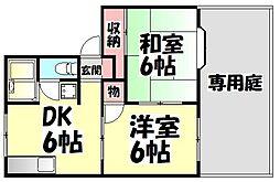 大阪府堺市堺区旭ヶ丘中町1丁の賃貸アパートの間取り