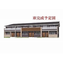 長野県佐久市岩村田の賃貸アパートの外観