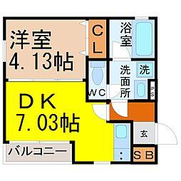 愛知県名古屋市中村区中村本町1の賃貸マンションの間取り