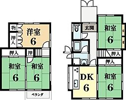[一戸建] 京都府城陽市寺田大畔 の賃貸【/】の間取り