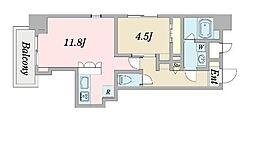 (仮称)豊津計画新築工事 8階1LDKの間取り