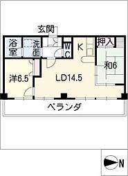 錦ハーモニービル[11階]の間取り