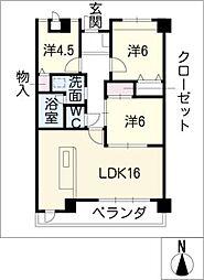 アルカディアVIII[4階]の間取り