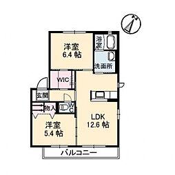 シャーメゾン・湊 十番館[102号室号室]の間取り