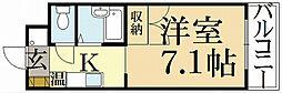 京都府京都市左京区松ケ崎御所ノ内町の賃貸マンションの間取り