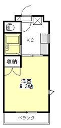 エスプール阪野[2階]の間取り