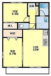 ホワイトホーク[3-C号室]の間取り