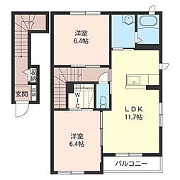 カーサブルーノ E[2階]の間取り