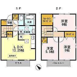 D−room黒田[101号室]の間取り