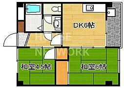 吉田山山荘[105号室号室]の間取り