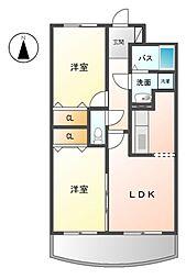 三重県桑名市大字蓮花寺の賃貸アパートの間取り