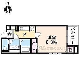 JR東海道・山陽本線 桂川駅 徒歩15分の賃貸マンション 2階1Kの間取り