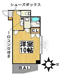 愛知県名古屋市千種区末盛通4丁目の賃貸マンションの間取り