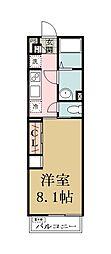 リブリ・草加[1階]の間取り