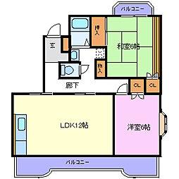 静岡県裾野市深良の賃貸マンションの間取り