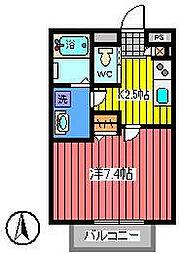 埼玉県さいたま市浦和区常盤3丁目の賃貸アパートの間取り