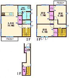(仮称)羽沢南一丁目計画[2階]の間取り