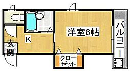 タカシハイツ[2階]の間取り